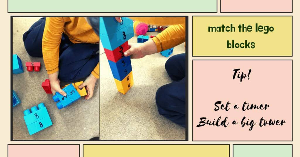 match the lego number recognition activity