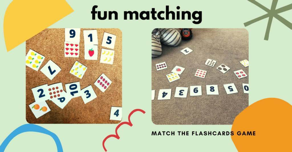 matching game for number recognition