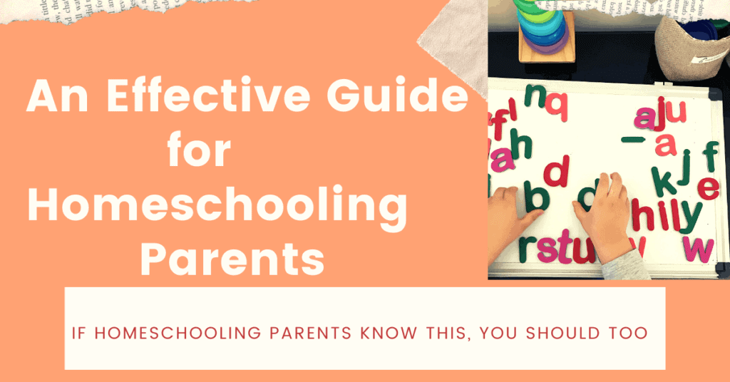 guide for homeschooling parents