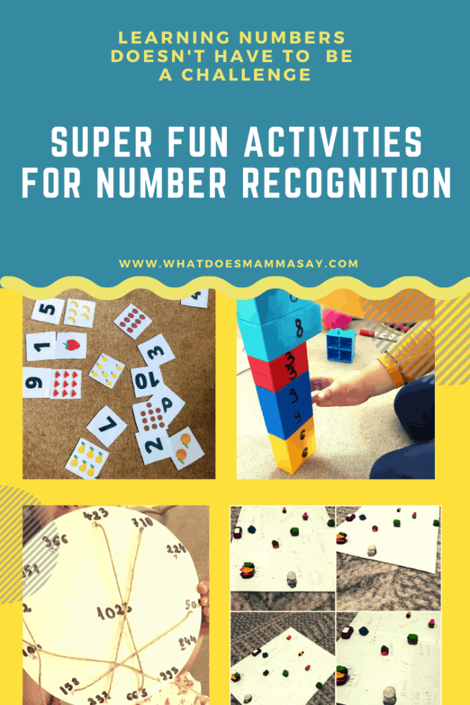 fun games for number recognition