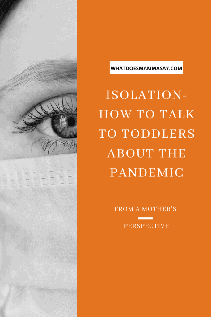 tell toddlers about isolation