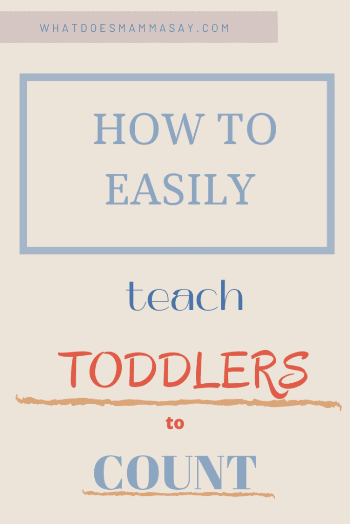make numbers fun for toddlers