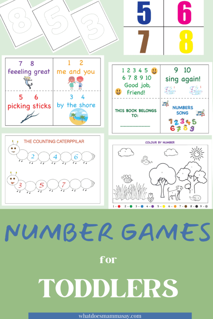 fun number games for toddlers