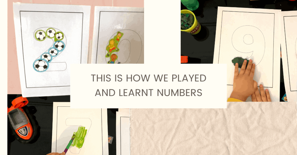how toddlers learn numbers