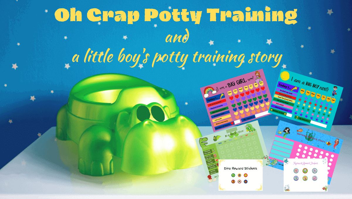 Oh Crap Potty Training and a little boy's potty training story