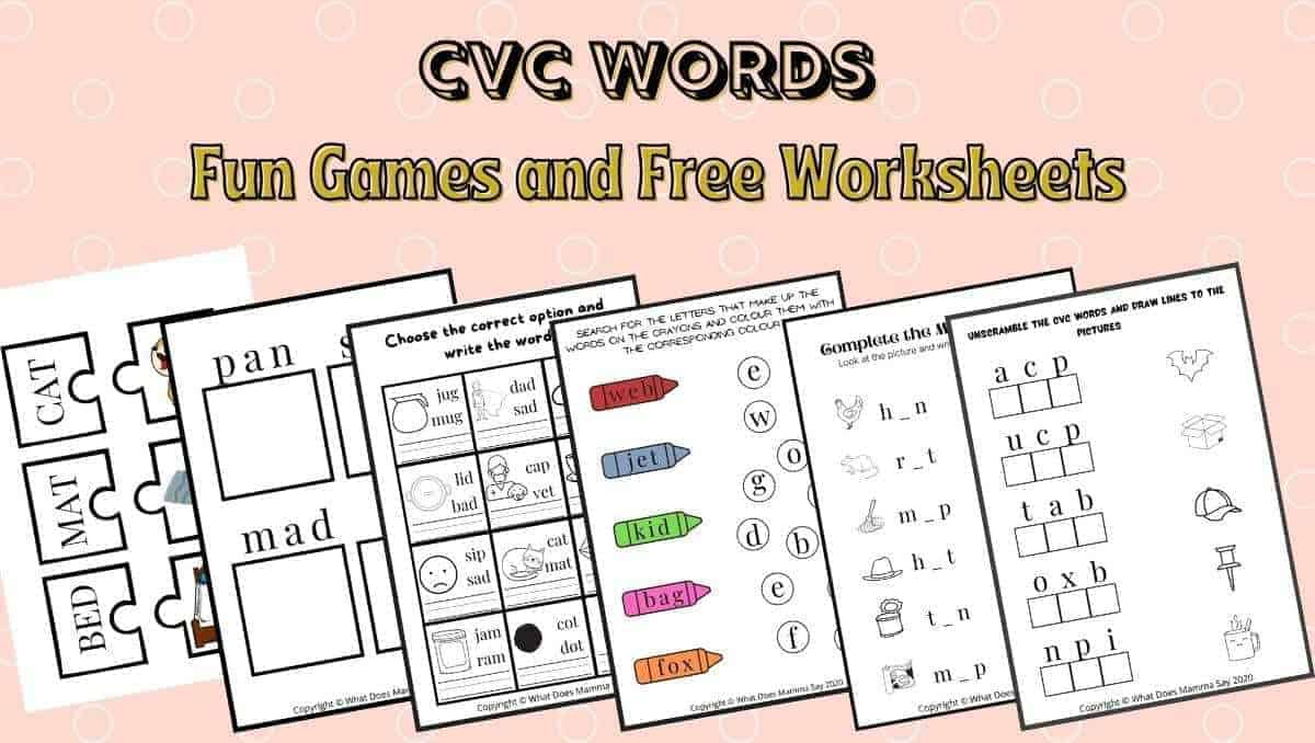 CVC Words Activities and Worksheets