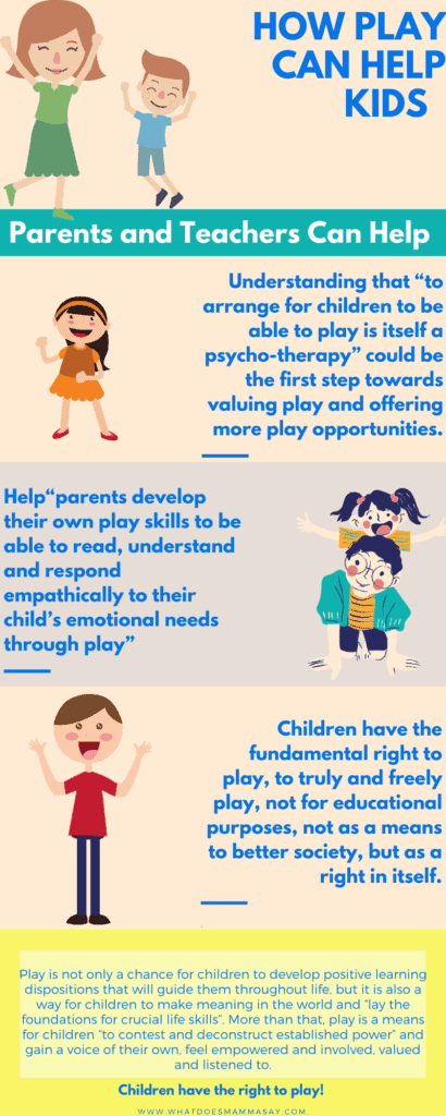 parents and teachers can help kids play