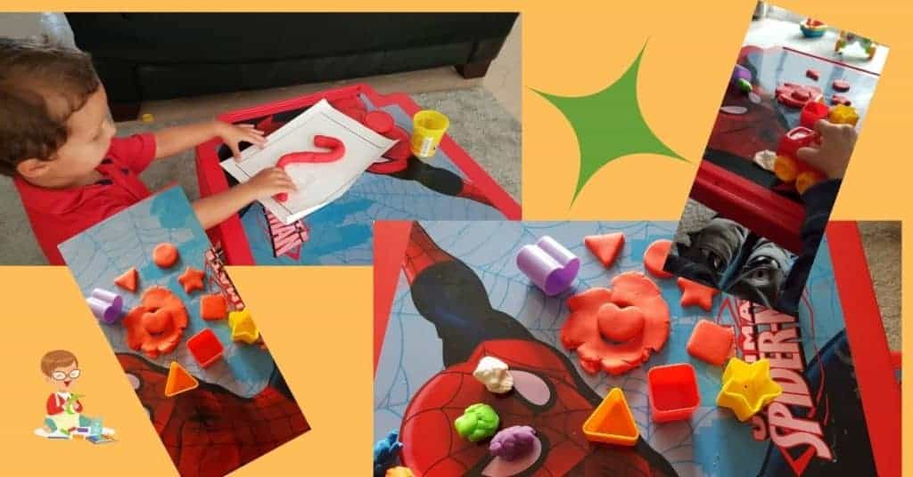 Learning activities with playdough