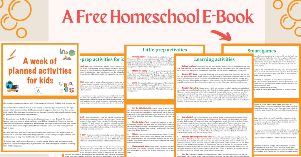 FREE HOMESCHOOL E-BOOK