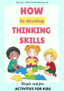 how to develop thinking skills