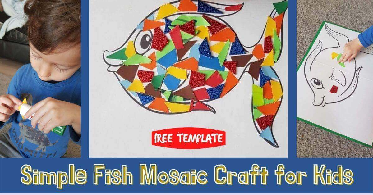 Simple Fish Mosaic Craft for Kids