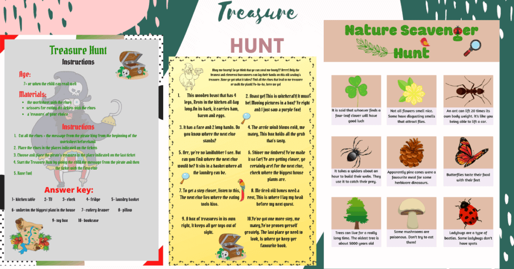 treasure hunt clues for indoor