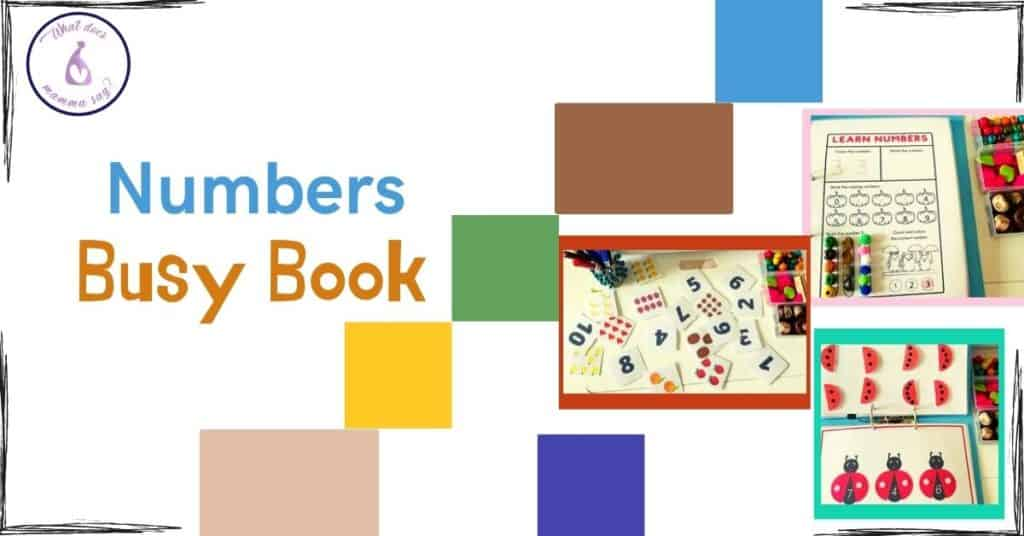 Numbers busy book printables