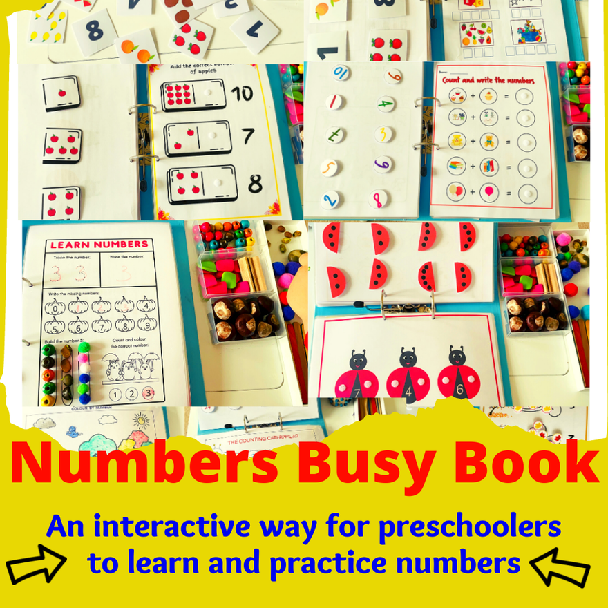 numbers busy book
