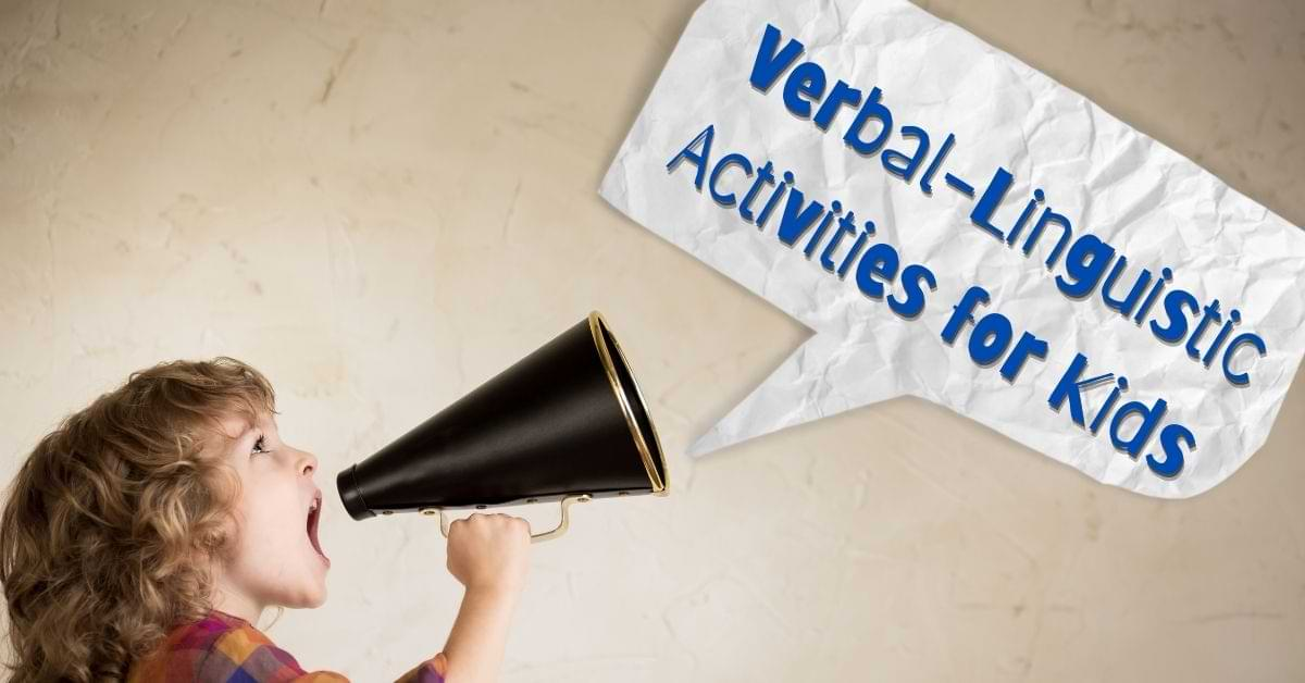 verbal linguistic activities for kids featured image